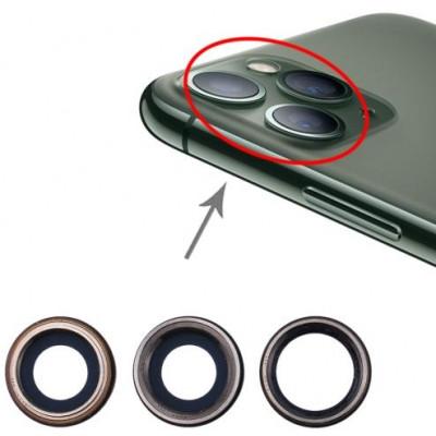 Lente fotocamera posteriore per iPhone 11 Pro Max 3pz Nero