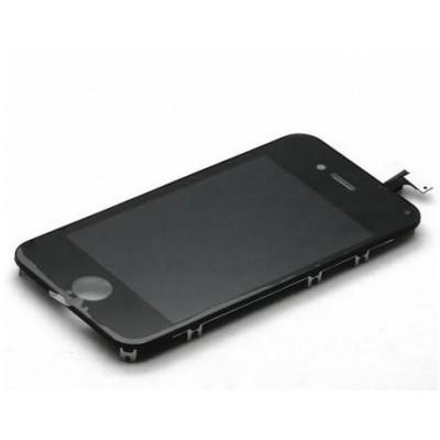 LCD LG Con Retina Antipolvere Telaio per iPhone 4 Nero AAA+