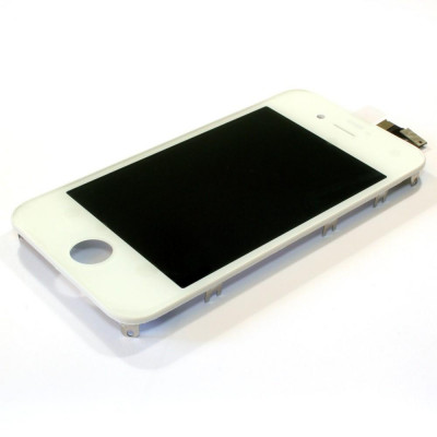 LCD LG Retina Antipolvere Telaio per iPhone 4 Bianco AAA+