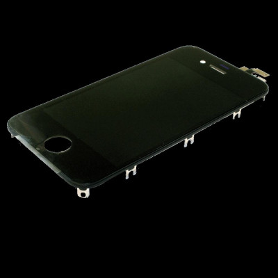 LCD LG Touch Retina Antipolvere per iPhone 4S Nero AAA+