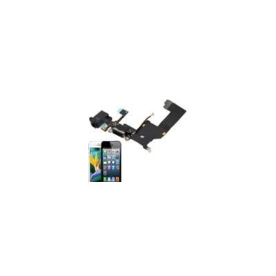 Basetta Connettore Carica Audio cavo flat per iPhone 5 Nero