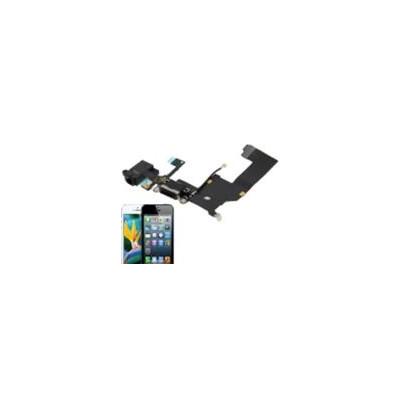 Basetta Connettore Carica Audio cavo flat per iPhone 5 Bianc