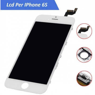Display LCD Originale LG AAA+ per iPhone 6S Bianco