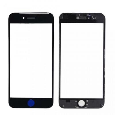 Vetro Frontale con Frame per iPhone 7 Plus Nero