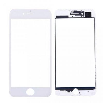 Vetro Frontale con Frame per iPhone 7 Plus Bianco