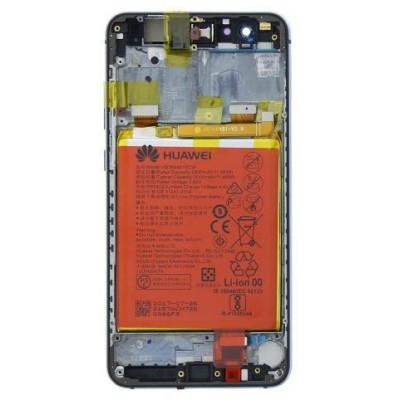 Huawei P10 Lite LCD Display + Batt + Frame Service Pack Nero
