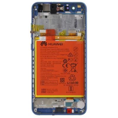 Huawei P10 Lite LCD Display + Batt + Frame Service Pack Blu