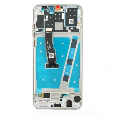 Lcd per Huawei P30 Lite per 48 Mpx LCD con Frame Bianco