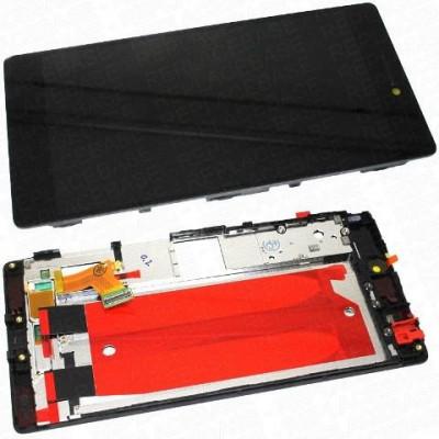 LCD + Touch ORIGINALE con Frame per Huawei P8 Nero