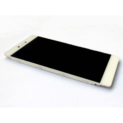 LCD + Touch ORIGINALE con Frame per Huawei P8 Bianco