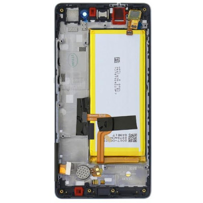 Huawei P8 Lite LCD Service Pack con Batteria 02350KCW Nero