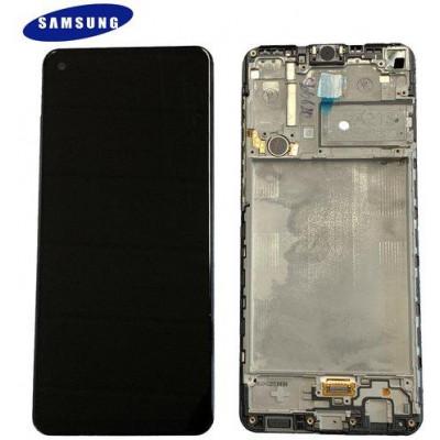 LCD Samsung A217F Galaxy A21s GH82-23089A GH82-22988A Nero