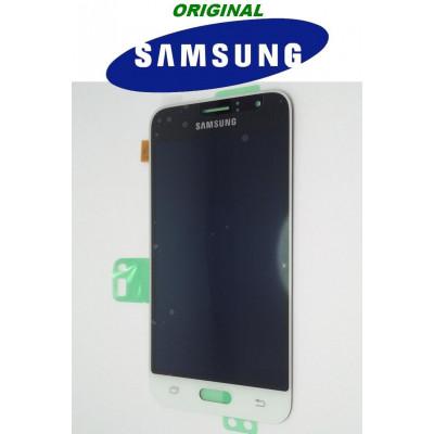 LCD ORIGINALE SAMSUNG J1 2016 BIANCO SMJ120F GH97-18224A