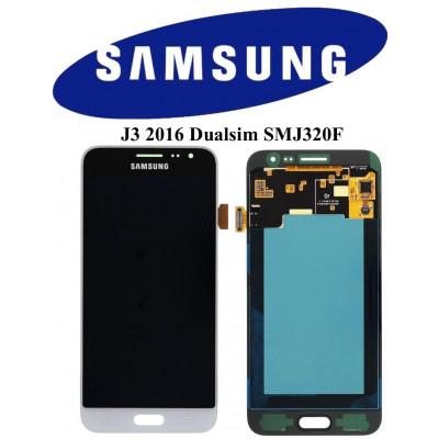 LCD ORIGINALE SAMSUNG J3 2016 DS BIANCO SMJ320F GH97-18414A