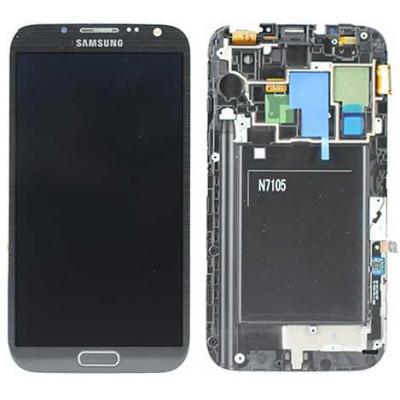 LCD + TOUCH ORIGINALE PER GALAXY NOTE2 LTE (N7105) GRIGIO