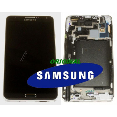 LCD + TOUCH ORIGINALE PER GALAXY NOTE3 N9005 NERO GH9715209A
