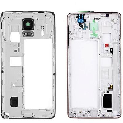 Frame Medio per Samsung Note 4 N910F Bianco