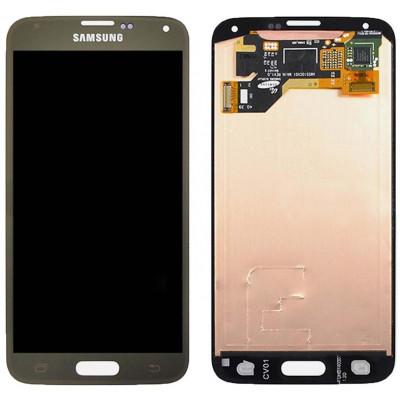 LCD+TOUCH ORIGINALE PER SAMSUNG GALAXY S5 ORO GH9715959D