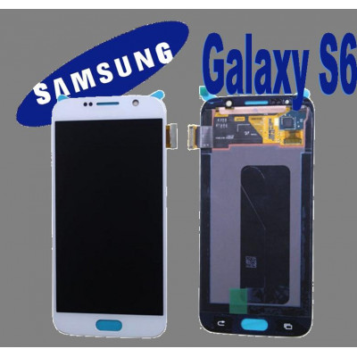 LCD + TOUCH ORIGINALE PER GALAXY S6 BIANCO GH9717260B