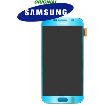 LCD + TOUCH ORIGINALE PER GALAXY S6 ELECTRIC BLUE 17260D
