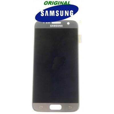 LCD + TOUCH PER GALAXY S7 ORIGINALE SILVER GH9718523B