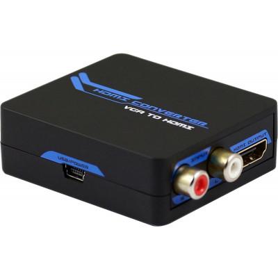 Mini Convertitore attivo da VGA+Audio ad HDMI 1080p
