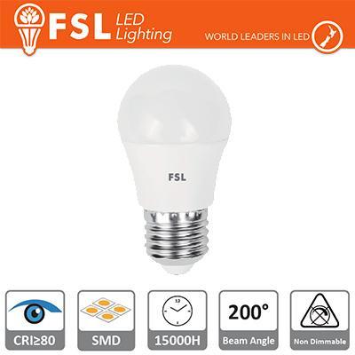 Lampada Sfera - 5,5W 3000K E27