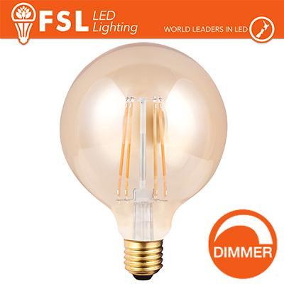 Lampada Globo Filamento Ambra Ø12,5cm - 8W E27 800LM DIMMER
