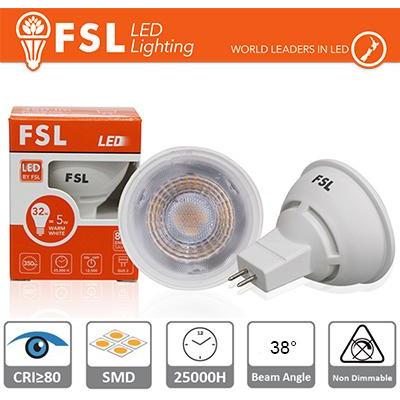 MR16 Lampadina LED - 6W 3000K 500LM 38º CRI80 DC 12V