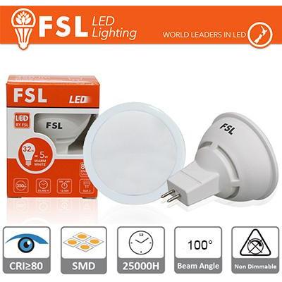 MR16 Lampadina LED - 6W 4000K 510LM 100º CRI80  DC 12V
