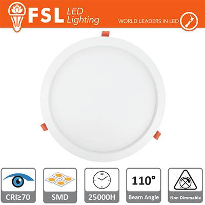 Downlight LED IP20 24W 4000K 1950LM 110° FORO:285mm