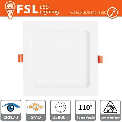 Downlight LED IP20 15W 4000K 1150LM 110° FORO:190x190mm
