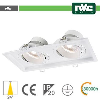 Incasso Multi lampada - 18w (2x9w) 4000k 1440lm 24°