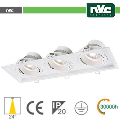 Incasso Multi lampada - 27w (3x9w) 4000k 2160lm 24°