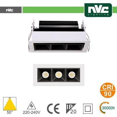 Incasso Multi lampada - 3X3W 530LM 3000K 50° 90CRI