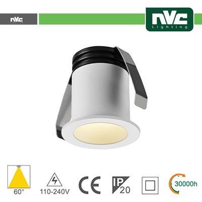 Punto Luce LED 2W 4000K 60° IP20 FORO:35mm