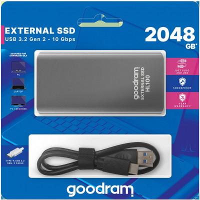 Hard disk esterno USB Type-c 2TB Goodram SSDPR-HL100-2T