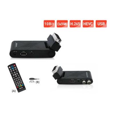 Decoder scart AKAI DVB-T2 H.265 HEVEC HD 10bit