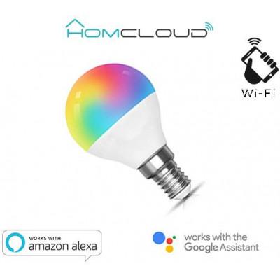 Lampadina Wi-FI RGB+BIANCO CALDO E14 G45 dimmerabile