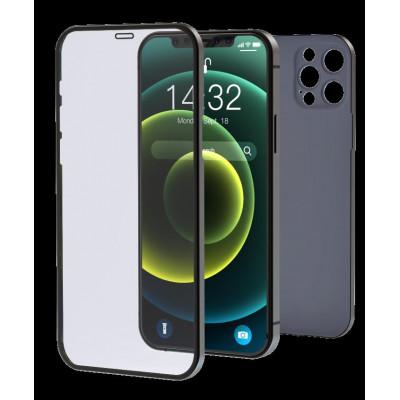 Cover & Vetro Totale protezione per iPhone 12 Nero