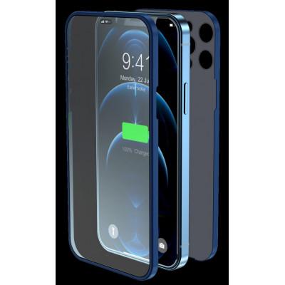 Cover & Vetro Totale protezione per iPhone 12 Blu