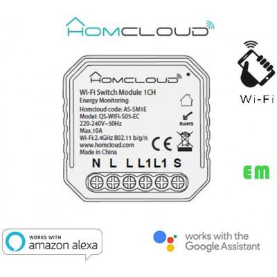 Modulo Interruttore 1 canale Wi-Fi con Monitoraggio Energia