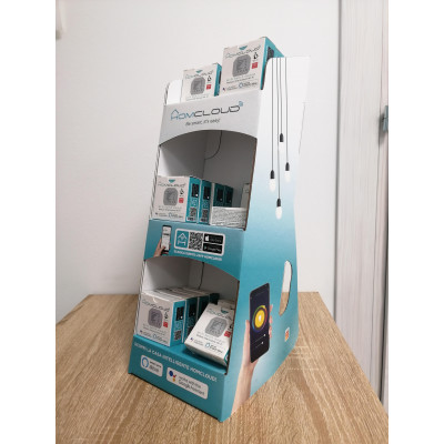 Mini Espositore Homcloud da banco in cartone per moduli