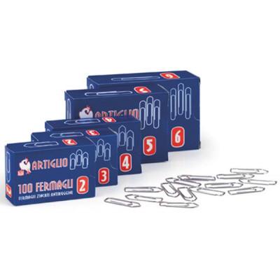 Fermagli in acciaio conf. 10 scatole da 100pz - Misura n.5