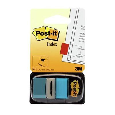 Post-it® Index Medium Azzurro - dispenser da 50 segnapagina