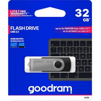 Pendrive GoodRAM 32GB UTS3 BLACK USB 3.0 - retail blister