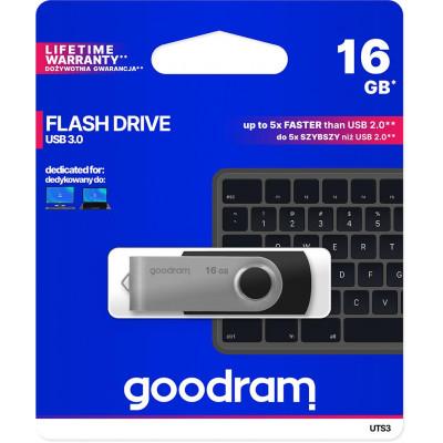 Pendrive GoodRAM 16GB UTS3 BLACK USB 3.0 - retail blister