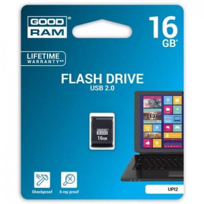 Pendrive Goodram UPI2 16GB USB MINI 2.0 blk - retail blister