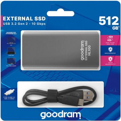 Hard disk esterno USB Type-c 512GB Goodram SSDPR-HL100-512