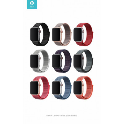 Cinturino Apple Watch 4 serie 40mm Delux Sport 3 Storm Gray